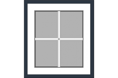 Window antraciet-white 800 x 900 mm turn/tilt with bars