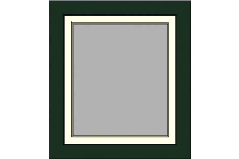 Window darkgreen-creme 800 x 900 mm turn/tilt