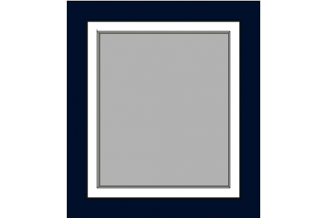 Window darkblue-white 800 x 900 mm turn/tilt
