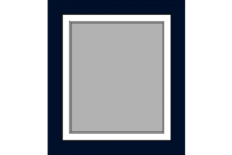Window darkblue-creme 800 x 900 mm turn/tilt
