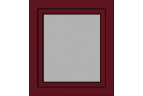 Window darkred ral 3005 800 x 900 mm turn/tilt