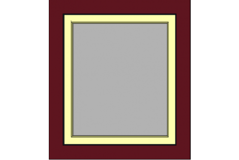 Window darkred-ivory 800 x 900 mm turn/tilt