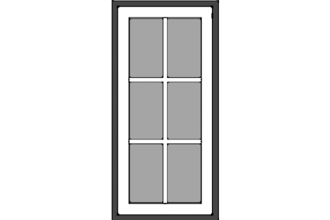Window antraciet-white 800 x 1650 mm turn/tilt with bars