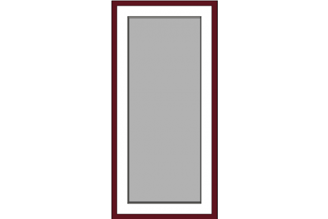 Window darkred-creme 800 x 1650 mm turn/tilt