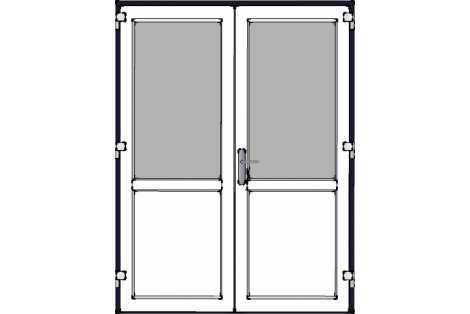 Door -Darkblue-White-Standard glass HR++-Double door 1600 x 2100 mm