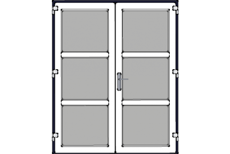 Door -Darkblue-White-Modern- HR++-Double door 1600 x 1950 mm