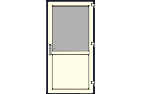 Door -Darkblue-Creme-Standard glass HR++-Single door 1000 x 1950 mm