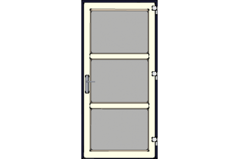 Door -Darkblue-Creme-Modern glass- HR++-Single door 1000 x 2100 mm