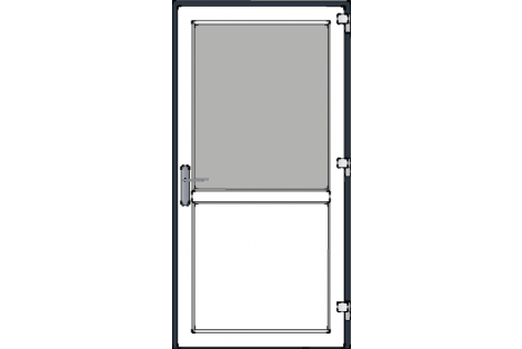 Door -Antraciet-White-Standard glass HR++-Single door 1000 x 1950 mm