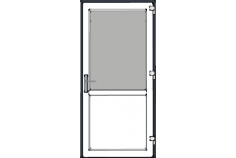 Door -Antraciet-White-Standard glass HR++-Single door 1000 x 2100 mm