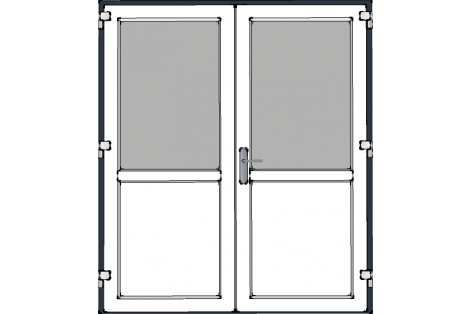 Door -Antraciet-White-Standard glass HR++-Double door 1700 x 1950 mm