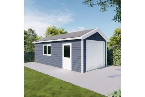 Garage pitched roof