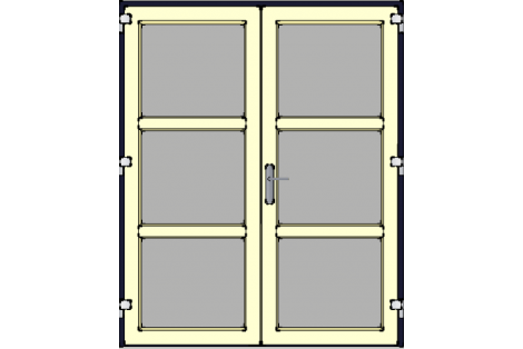 Door -Darkblue-Ivory-Modern- HR++-Double door 1600 x 1950 mm