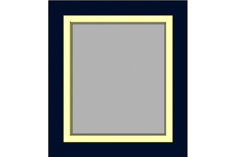 Raam darkblue-ivory 800 x 900 mm turn/tilt