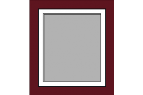 Raam darkred-creme 800 x 900 mm turn/tilt