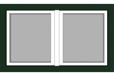Raam darkgreen-white 1500 x 900 mm turn/tilt