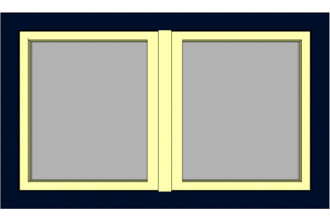 Raam darkblue-ivory 1500 x 900 mm turn/tilt